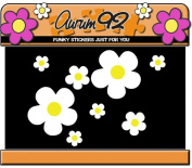 White Daisy Flower Stickers x26 - Car, Laptop, Windows