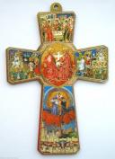 13cm Holy Spirit Wooden Cross Religious Gift