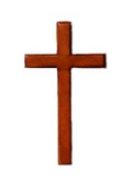Christian brown wooden cross 10cm hanging or holding mahogany crucifix