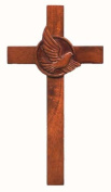 20cm wooden Mahogany large Holy Dove wall hanging cross brown