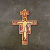 Christian 8.8cm St. Francis of Assisi wall cross wooden