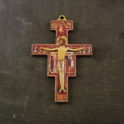 Christian 14.5cm St. Francis of Assisi wall cross wooden