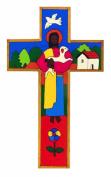 Wood Cross.10cms. Holy Communion Gift. Bedroom Wall Hanging Cross. Cross