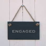 Double sided 'Engaged/Vacant' Slate Hanging Sign
