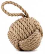 Quality HEAVY Nautical Rope Knot Doorstop - Light Brown