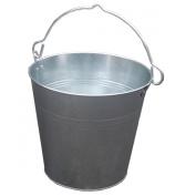 Large 12L LTR Litre Capacity Galvanised Metal Bucket Coal Ash Animal Horse Feed