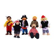 Bigjigs Toys JT126 Heritage Playset Pirates Set