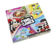 Grafix 5 in 1 Travel Family Games Roulette / Solitaire, Ludo & Draughts