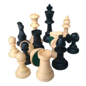 Lion Games & Gifts Europe Heavy Weighted Plastic Chessmen with King's Height 95 mm