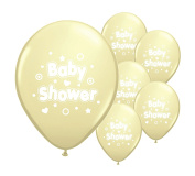 10 BABY SHOWER 28cm HELIUM OR AIR FILL QUALITY PEARLISED BALLOONS