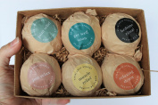 Bath Bomb Gift Set - 6 Pack of Large Organic Bath Fizzies from Beauty by Earth - Lush, Luxury and Fizzy Healing Bath Bombs with Essential Oils, Shea Butter, Cocoa Butter and Epsom Salts - Best Relaxing and Moisturising Soak and Perfect Gift Idea - Made ..