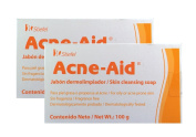Acne Aid Skin Cleansing Bar Soap 100 gr - Package of 2.