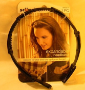 Scunci, New, Expandable Crystal Headband, Expand to Wear and Fold up on the Go, Black