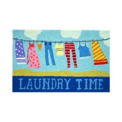 Laundry Time Clothesline Accent Area Rug Jellybean