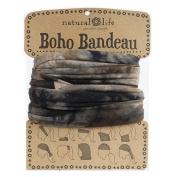 Natural Life Bandeau Tie Dye Band, Brown/Green/Navy