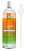 100% Pure Fractionated Coconut Oil - Liquid Moisturiser for Skin, Face, Body & Nails - Hydrating Conditioner for Dry & Damaged Hair and Scalp - The BEST Vitamin E Organic Oil With the MOST Benefits & Uses! - Antioxidant + Lip Balm + Cuticle Softener + ..