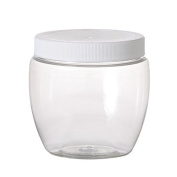 12 Pack of Plastic Jars - 240ml Pet Venetian Style - 70mm Neck Size - Lot of 12