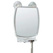 Fog Free Shower Shaving Rectangular Mirror - With Power Lock Suction Mount