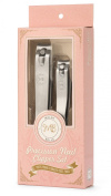 Nail Clipper Set By Malva Belle - Toenail and Fingernail Clippers - Best Nail Cutter for Clean and Precise Cuts Through Thick Nails - Cute Pink Packaging - Perfect Gift for Women and Girls - Hole for Keychain - Stainless Steel