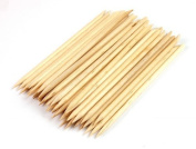 JOVANA 150pcs Nail Art Orange Wood Sticks Cuticle Pusher Remover Manicure Pedicure Tool 120mm