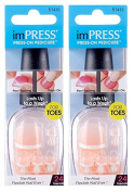 "**NEW 2-PACK** KISS imPRESS ""ICANDY"" by Broadway Press-On Toenails"