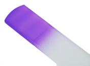 Genuine Czech Purple Crystal Glass 16cm Spa Bar Slab Foot File