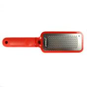 Probelle Metal Foot File Pedicure Rasp, Red, Full Size