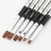 Makartt Detachable Uv Gel Brush Set Acrylic Nail Art Design Builder DIY Flat Brush Pen Set