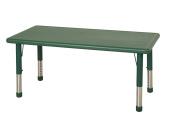 ECR4Kids 60cm x 120cm Rectangular Resin Adjustable Activity Table, Green