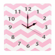 Trend Lab Chevron Wall Clock, Pink Sky