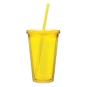 Eco To Go Cold Drink Tumbler - Double Wall -470ml Capacity - Pineapple