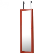 Mirrored Jewellery Armoire, Coral