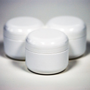 60ml White Double Wall Plastic Jar with Dome Lid