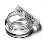 Wowlife 25/50/100/200 Clear Plastic Cosmetic Sample Containers - 5 Gramme