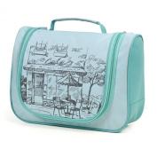 LYCEEM Golbal Series Travel Hanging Toiletry Bag Shaving Dopp Kit Cosmetic Makeup Bag Sicily Green