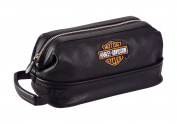 Harley Davidson Leather Toiletry Kit