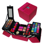 Jumbl Exclusive Makeup Gift Set -5 Layers of Eye Shadows , Lip-glosses , Powders, Blushes, Creamy Foundation - Jumbl Brush and Mirror Included