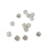 340 Pieces Antique Silver Jewellery Making Charms Vintage Jewellery Supply Crafting Bracelet JCO09 Stripes Loose Beads