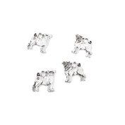 20 Pieces Antique Silver Jewellery Making Charms Supplies Charme Making Findings Craft Silver TKO08 Pug Dog