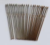CHENGYIDA 30- PACK (6cm ) BLUNT LARGE EYE STITCHING NEEDLES,Leather Sewing Needle