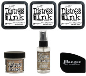 Tim Holtz Ranger Distress - DIY Do-It-Yourself Felt Pads, Microglaze and Refresher DIY Bundle