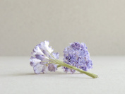10mm Violet Paper Gypsophila - 20pcs - Mulberry Paper Flowers with Wire Stems - Great for Miniature Flower Arrangement