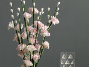 Pink Gypsophila Flowers - 10 mulberry paper flowers with wire stems - miniature - Great for decorating wedding favours