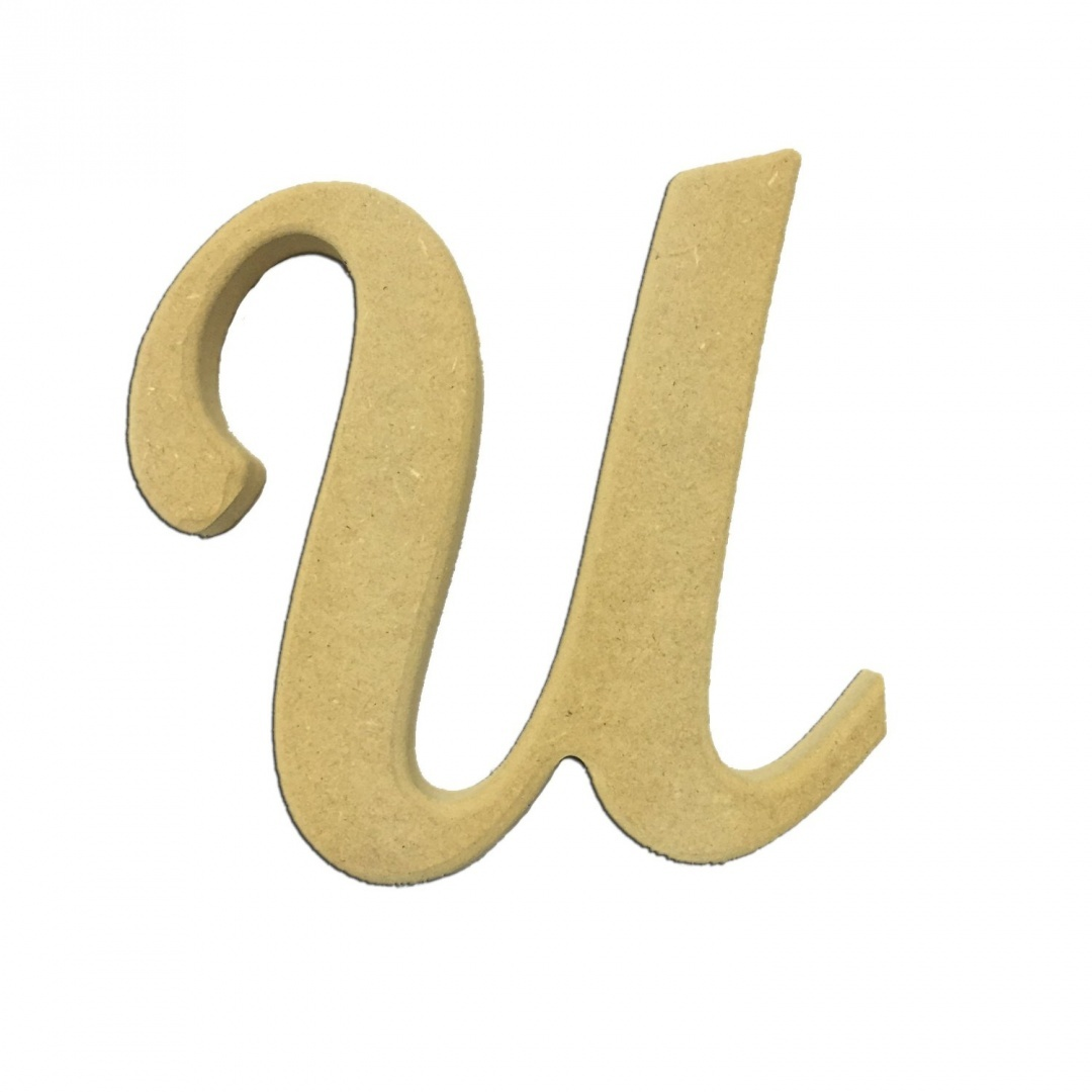 60cm Wood Script Cursive Capital Letter U Unfinished Diy Craft Cutout To Sell Ready To Paint Wooden Stacked