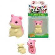 Ty Beanie Eraserz Fluffball Hamster Iwako Japanese Puzzle Eraser by Ty