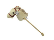 Cuddles Time Beige Cord Hobby Horse with Sound. by UKIC