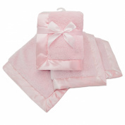American Baby Company Sherpa Receiving Blanket, Pink