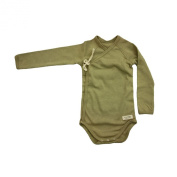 Organic Cotton Colours Baby Long Sleeved Crossover Body