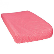 Trend Lab Cocoa Coral Dot Changing Pad Cover