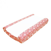 Gia Coral Pink Changing Pad Cover